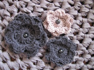 Crochet Flower Fabric Rug